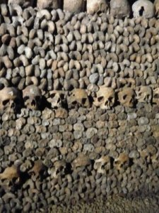 Taken by me in the Paris Catacombs, August 2008